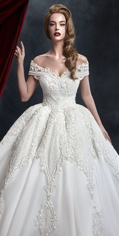 Off the shoulder full embellishment full ball gown wedding dress - Dar Sara wedding dress #weddingdress #weddinggown #wedding #wedding #weddingideas #weddings #weddingdresses #weddingdress #bridaldress #bridaldresses