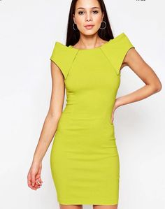 Cut from luxe, super stretch fabrics, each dress is designed to flatter and enhance the female form. Inspired by the catwalk, expect an edit of cocktail dresses including bodycon styles, pencil dresses and wrap dress shapes. | #eBay #asos #cocktaildress #bodycondress #pencildress #limedress