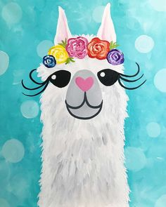 30 Ideas Spring Watercolor Art For Kids Canvases Family Painting, Painting For Kids, Diy Painting, Art For Kids, Beginner Painting, Alpacas, Kids Canvas Art, Cute Canvas Paintings, Funny Paintings