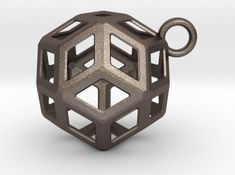 Rhombic triacontahedron pedant - brass bronze silver gold plated brass - geometric polyhedral jewelry Plating, Bronze, Pendants, Brass, Jewellery, Unique Jewelry, Handmade Gifts, Silver, Gold