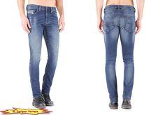 """DIESEL """"Thavar-NE"""" Slim Skinny Stretch Cotton Jogger Jeans in 0662L  #DIESEL #SlimSkinny"""