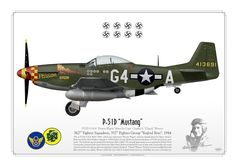 """USAAF . 362nd Fighter Squadron, 357th Fighter Group """"Yoxford Boys"""". 1944Flown by Capt. Charles E. """"Chuck"""" Weaver"""