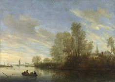 Salomon van Ruysdael : River View near Deventer (Rijksmuseum (Netherlands - Amsterdam)) 1602-1670 サロモン・ファン・ロイスダール