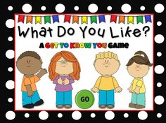Here's a fun activity to help get to know your students. In this powerpoint games, students are asked questions (some academic, some random) and students must choose between 2 choices.