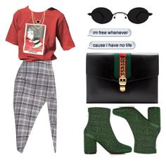 """""""Leon"""" by selinmavi ❤ liked on Polyvore featuring Gucci, Maison Margiela and Paloma Picasso"""