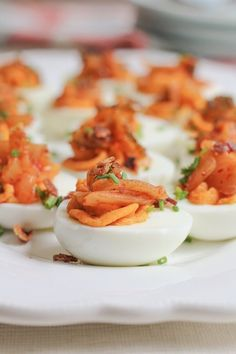 Recipe: Kimchi Deviled Eggs — Appetizer Recipes from The Kitchn | The Kitchn