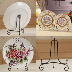 4\ -12\  Iron Easel Classic Display Stand Bowl Plate Art Photo Picture Frame Book #Unbranded & Large Wrought Iron Plate Stand   Home   Pinterest   Plate stands ...