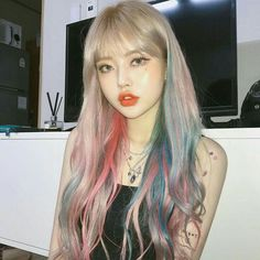 Mode Grunge, Grunge Style, Hair Color Purple, Blonde Color, Pretty Hairstyles, Girl Hairstyles, Korean Hair Color, Mode Ulzzang, Korean Beauty Girls