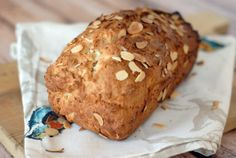 Full of sweet almonds, this Almond Bread a nice switch up to banana bread or zucchini bread.
