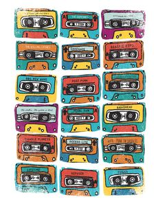 MIXTAPE - ANALOG zine Art Print by Matthew Taylor Wilson | Society6
