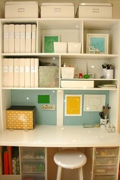 Home office in a closet. want. what a great way to hide it all
