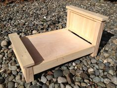 DIY Unfinished Farmhouse Doll Bed or Photography Prop. $60.00, via Etsy.