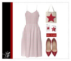 """Red Stars ★"" by bgmmstore on Polyvore"
