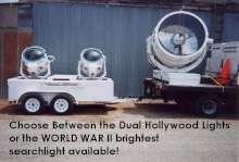 dual hollywood searchlights or world war  searchlight