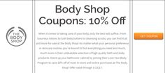 Body Shop Coupons ~ I'm in! Take Care Of Your Body, Loving Your Body, Take Care Of Yourself, Store Coupons, Shopping Coupons, Lush Body Butter, Weekly Coupons, Elegant Makeup, On Today