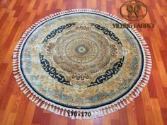 New design and new finished handmade silk carpet from Yilong Carpet factory. Size: 170x170cm www.yilongcarpet.com