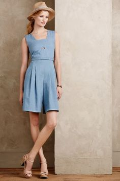 465cad2f7680 Chambray Culotte Romper - anthropologie.com  anthroregistry Knit Dress