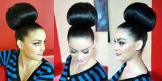 Chignon Updo, Updos, Hairdos, Bun Hairstyles For Long Hair, Wedding Hairstyles, Wet Set, Big Bun, Big Hair, Top Knot
