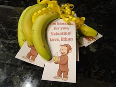 I made these Valentines for my little one who loves Curious George.