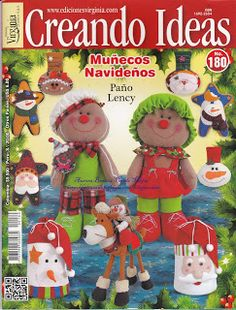Blog de Santa clauss: revista muñecos navideños gratis Mary Christmas, Christmas Sewing, Christmas Books, Christmas Crafts, Christmas Ornaments, Felt Ornaments, Christmas Ideas, Book Crafts, Hobbies And Crafts