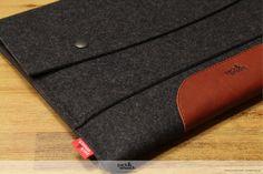 """MacBook 13"""" AIR sleeve, Macbook 13 Air wool felt case, Hampshire LTS-ALB-AIR13"""