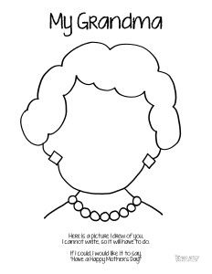 mothers day coloring page grandma short hair who arted