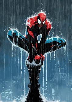 #Spiderman #Fan #Art. (Wet Spider Man)By: Dave Seguin. (THE * 5 * STÅR * ÅWARD * OF: * AW YEAH, IT'S MAJOR ÅWESOMENESS!!!™)[THANK U 4 PINNING!!!<·><]<©>ÅÅÅ+(OB4E)