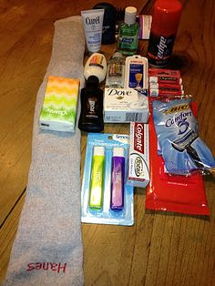 "Good Service Project ~ Socks of Love ~ Fill one sock with necessities (toothbrush, toothpaste, washcloth soap, comb, etc...) - also don't forget to include the other sock. Then donate ""Socks of Love"" to homeless shelters or send to troops overseas."