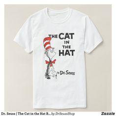 Girls Cat in the Hat Black Printed Short Sleeve T-Shirt Unisex Book Week Top