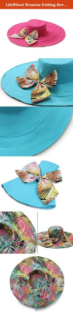 """LifeWheel Womens Folding Reversible Sunhat Wide Brimmed Sun Protective Hat UPF 50+ Floppy Beach Cap for Spring and Summer Bowknot Decoration. Features: 1.Perfect for summer holidays, photo shoot and sea travelling .A great gift for your lovers or friends. 2.Breathable cotton faric,make you more comfortable. 3.Adjustable draw cord,with a removable chinstrap to keep it on in strong winds .Head circumference:22.23""""~22.62"""" , hat brim 6.24"""" . ."""