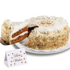 TThis has been called THE BEST Carrot Spice Cake you've ever tasted! Two moist carrot layers studded with walnuts and plump raisins, filled and frosted with rich cream cheese frosting. Order Birthday Cake Online, Birthday Cake Delivery, Birthday Cake For Mom, Happy Birthday Cakes, Crema Fresca, Carrot Spice Cake, Fresh Cake, Online Cake Delivery, Mom Cake