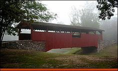 Covered Bridge in Burns Park, North Little Rock, Arkansas. Beautiful to drive, bike or walk  or perfect place for a picnic.