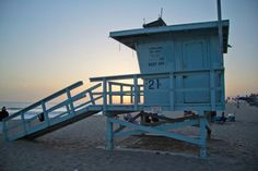 Venice Beach lifeguard station.