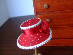 Hey, I found this really awesome Etsy listing at https://www.etsy.com/listing/189828809/1-inch-scale-dollshouse-red-polka-dot