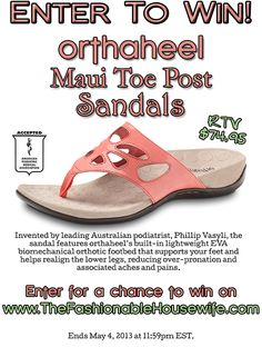 Win OrthaHeel sandals from TheFashionableHousewife