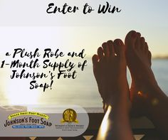 Win a Plush Robe and 1-Month Supply of Johnson's Foot Soap to soothe and relieve those achy feet! http://social.viralapps.com/9fik8h/ja8jxn