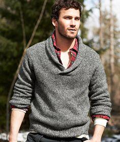 I wish it were colder in Austin so I could appreciate this shawl neck sweater.