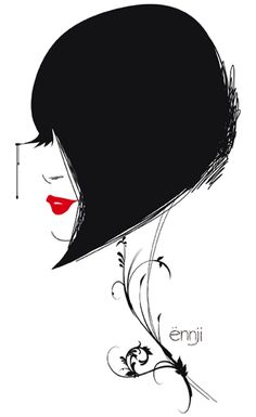 illustrations-mode-ennji-dessin-silhouette-feminines-rouge-noir-12