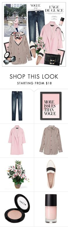 """L'âge de glace"" by amaryllis ❤ liked on Polyvore featuring Closed, Americanflat, Rochas, Isabel Marant, Nearly Natural, Kate Spade and Stila"