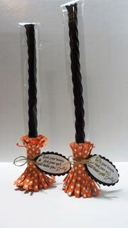 Peanuts and Peppers Papercrafting: Try It Thursday - Stampin' Up Bootiful Occasions Witch Broom Treats and Tutorial