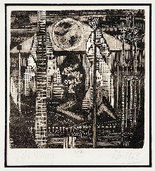 LÍVIO ABRAMO xilogravura impressa s/ papel,  1953,