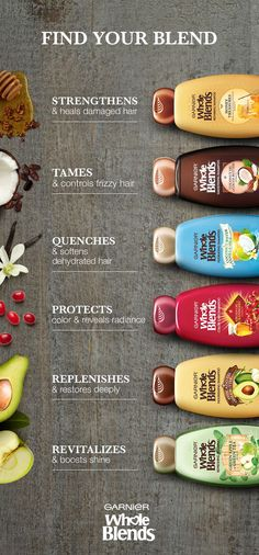 Which shampoo is right for you??   Hydrate dry hair, heal damaged hair, keep your color vibrant, and your hair shiny - all with amazing blends of ingredients!  Click to discover all that Garnier Whole Blends has to offer. #shampoo #shampoovictoriasecrets #shampooaussie #aussieShampoo