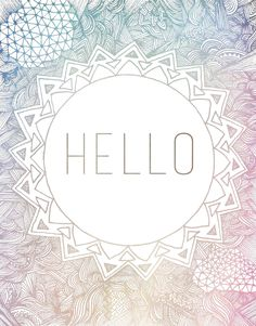 Hello, zentangle patterns typography, intricate illustrations