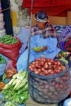 Market Vendor - La Paz, Bolivia