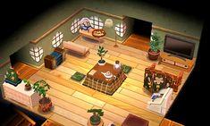 Mini Cactus Redondo: Foto - ¡Una linda habitación principal, completa con un televisor y una tetera para el té! Animal Crossing 3ds, Animal Crossing Pocket Camp, Acnl Paths, Game Room Kids, Motif Acnl, Zen House, Ac New Leaf, Happy Home Designer, Rainbow Painting