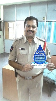We are glad to have Raidurgam Police Station CI Shri. Srikanth Garu for pledging for Walk for Water. Thanks to you all at Raidurgam Police Station Staff and Special Thanks to Shri. Srikanth Garu (CI) for showing your true spirit in pledging for Blue Revolution Club and Walk for Water.