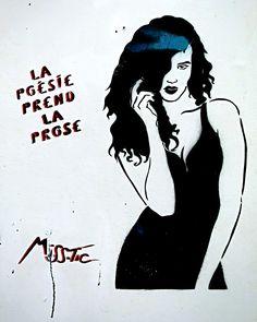 """Miss.Tic (Maximes) """"La poésie prend la prose"""". Paris 11ème - Août 2015"""