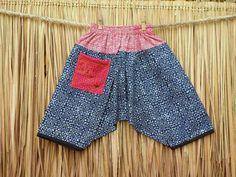 Hippie Kids Harem Pants Bohemian Trousers Hmong  Indigo by DekDoi, $30.00