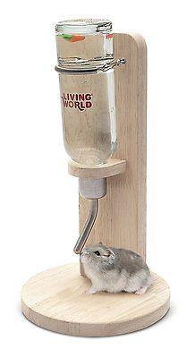 Living World Freestanding Pet Cage Water Bottle Stand Hamster Gerbil Rat Rabbit | eBay