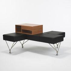 Gio Ponti, Triposto Bench for Tecno, 1967.